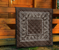 Coffee Brown Bandana Quilts