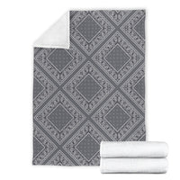 Gray Bandana Fleece Throw Blanket