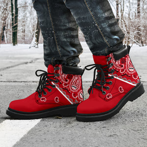 Classic Red Bandana All Season Boots