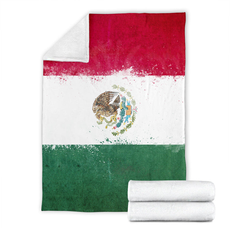 Mexico Flag Fleece Throw Blanket