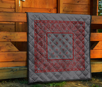 Gray and Red Bandana Quilted Bedding