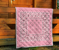 Light Pink Bandana bedspread