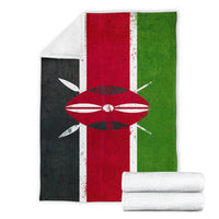 Kenya Flag Fleece Throw Blanket