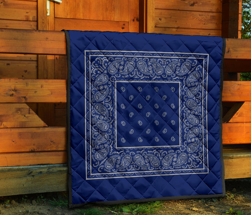 Blue and Gray Bandana Quilts