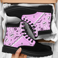 Light Pink Bandana Blackout All Season Boots