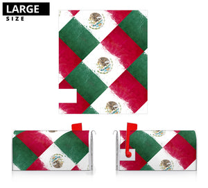 Mexican Flag Bandana Collage Mailbox Cover
