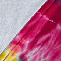 Striped Hippie Tie Dye Fleece Throw