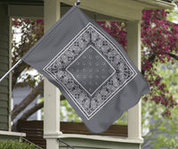 gray bandana flag