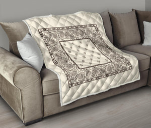 beige and Brown Bandana Quilts