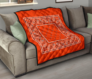 Perfect Orange Bandana Quilts