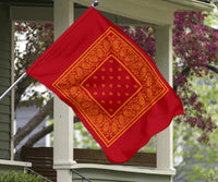 Red and Gold Bandana Home and Garden Flags