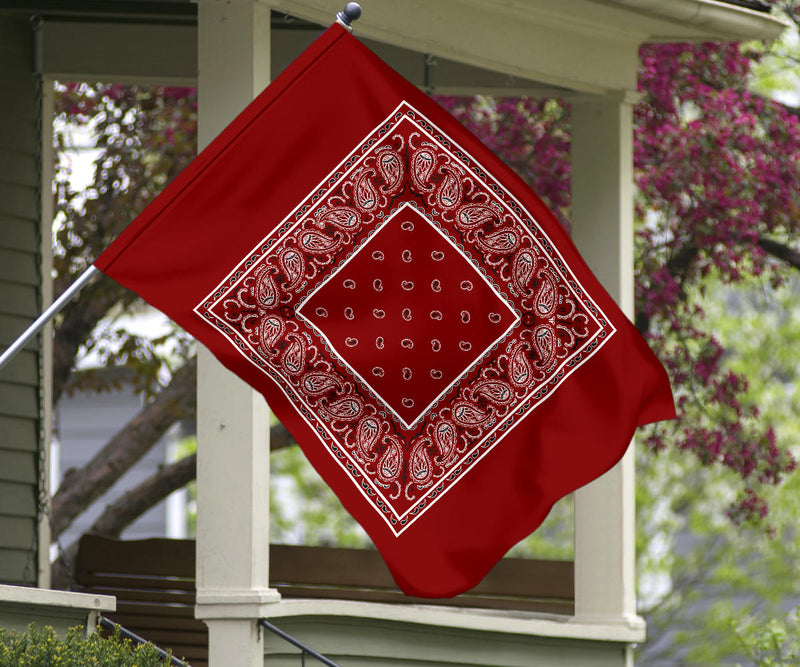 maroon bandana porch flag
