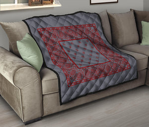 Gray and Red Bandana Bedding