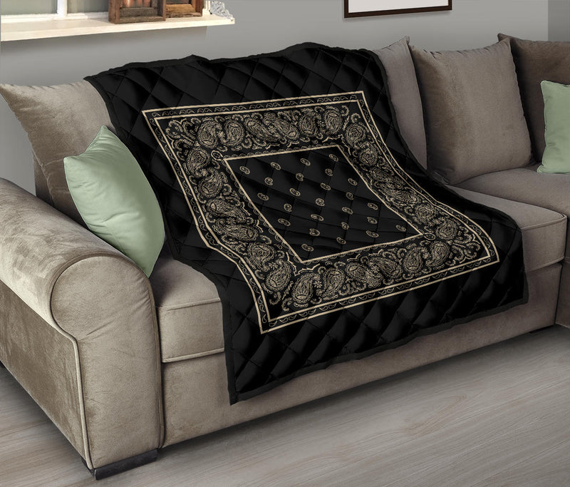Black and Khaki Bandana Quilts