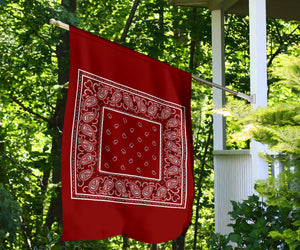 Maroon Bandana Home and Garden Flags