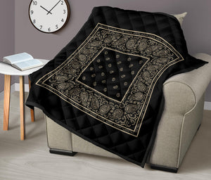 Black and Khaki Bandana Lab Quilts
