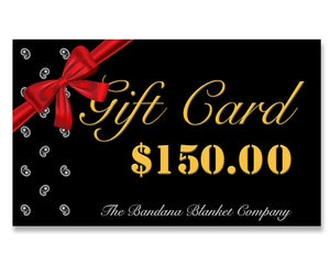 one hundred fifty dollar gift card
