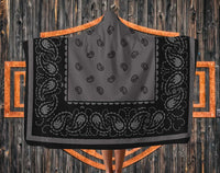 Dark Gray and Black Hooded Blankets