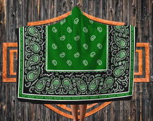Green Hooded Blanket