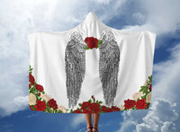 Angels and Roses Hooded Blanket