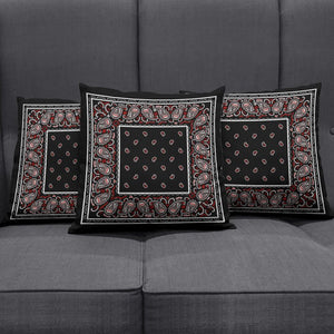 Wicked Black Bandana Throw Pillow Covers