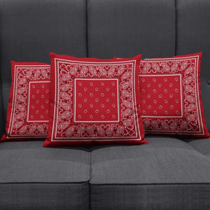 red bandana throw pillows