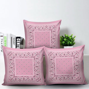 pink bandana decorative pillows