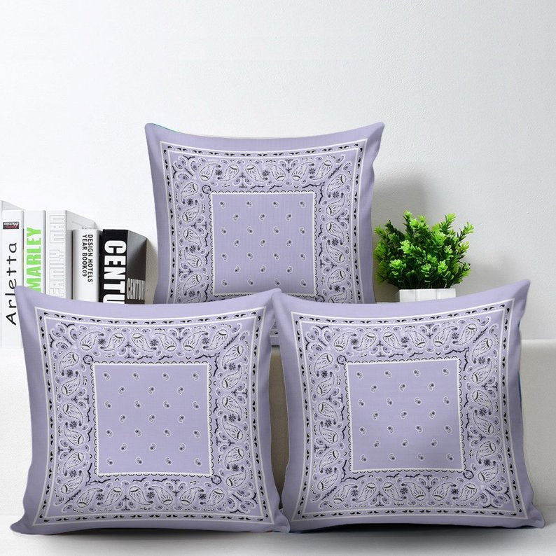 purple scatter pillows