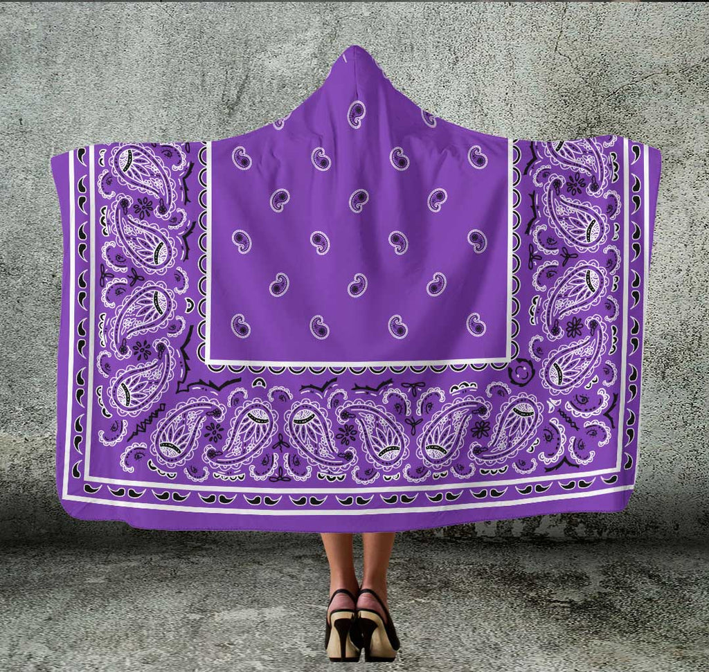 purple hooded blanket