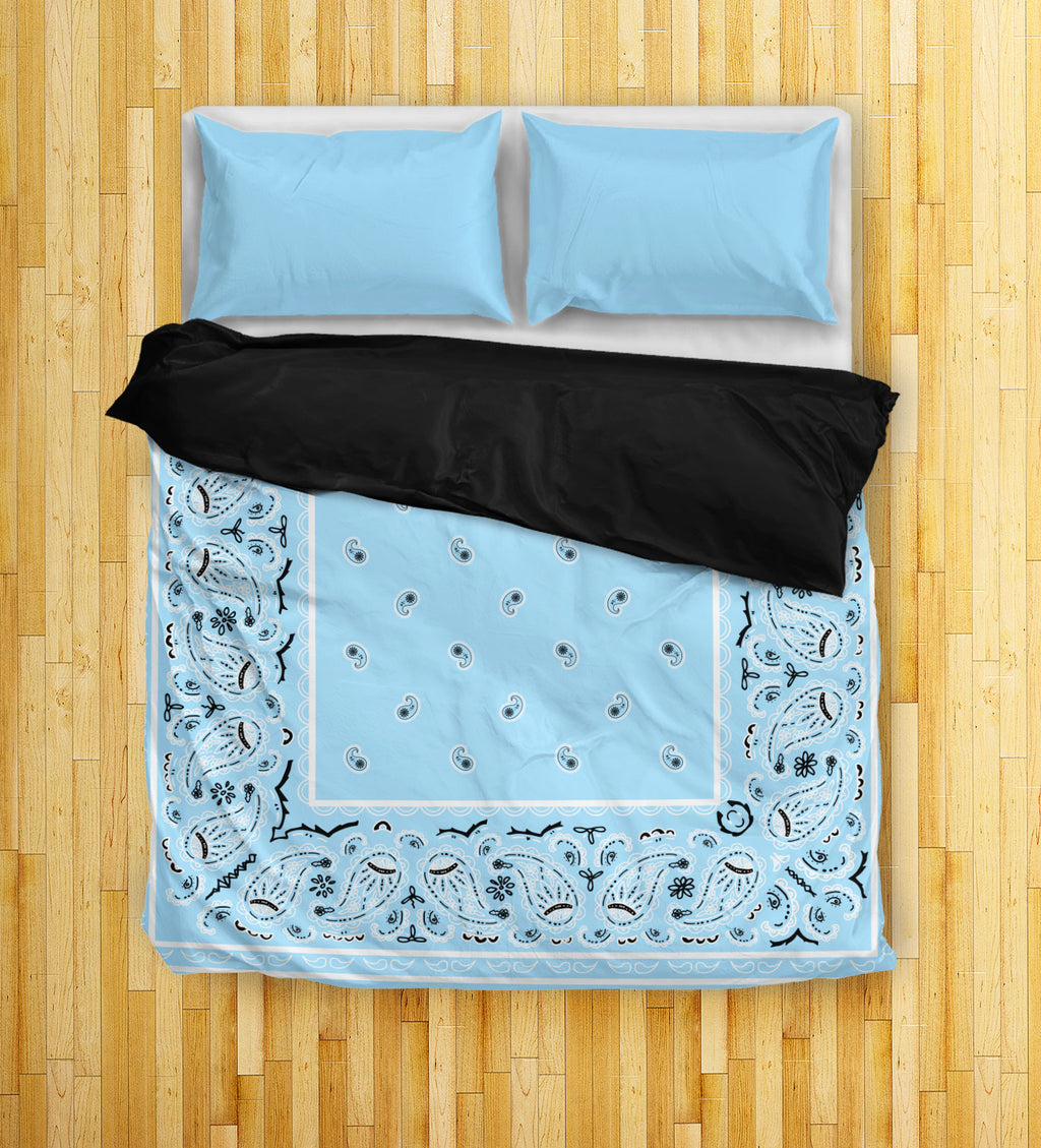 Light Blue Bandana Duvet Covers