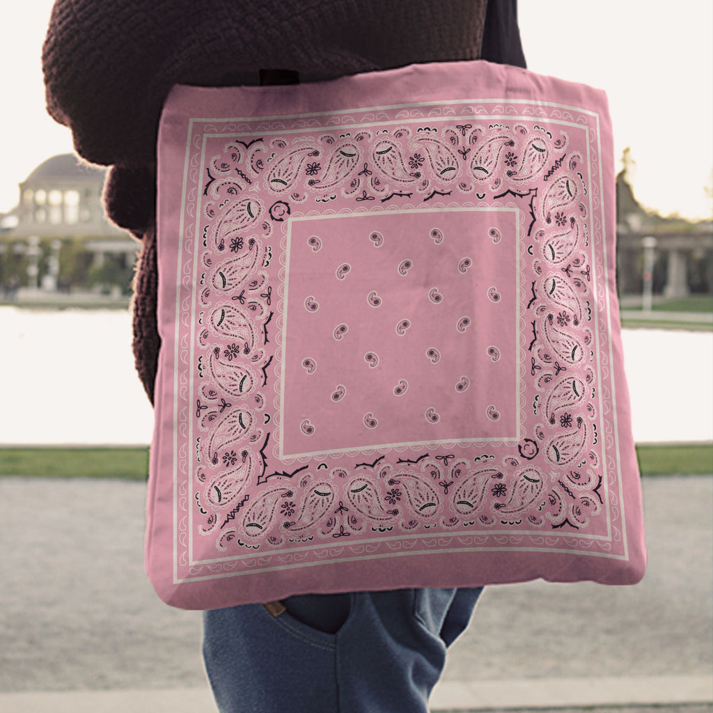 Light Pink Paisley Bandana Tote Bag