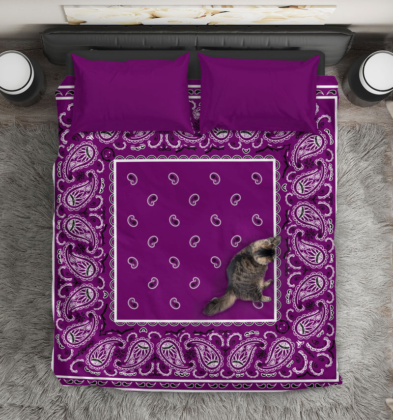 Purple Bandana Duvet Cover Set
