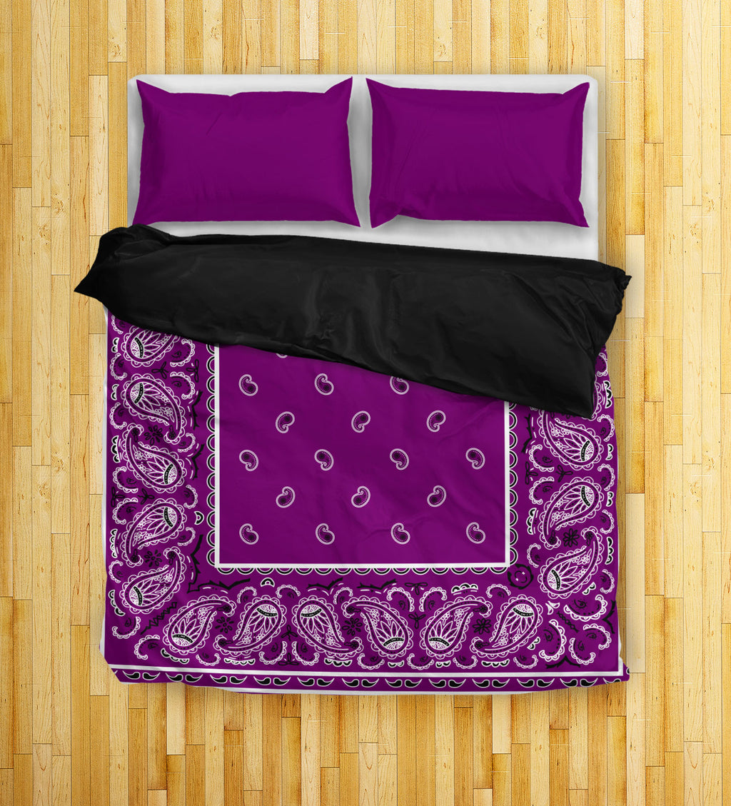 Plum Bandana Duvet Cover Set