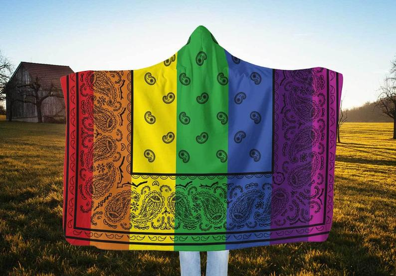 Rainbow Bandana Hooded Blankets