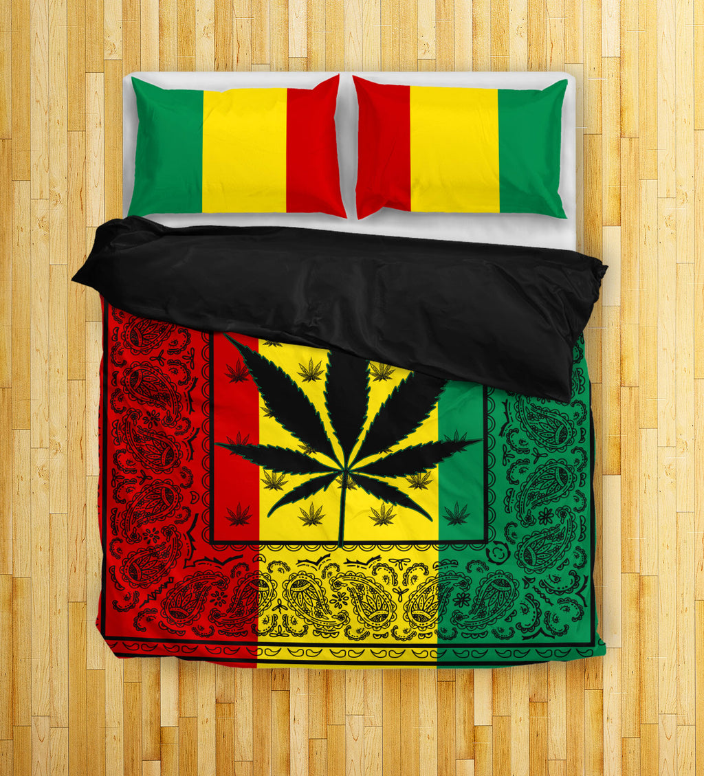 Rasta 420 Bandana Duvet Cover Sets