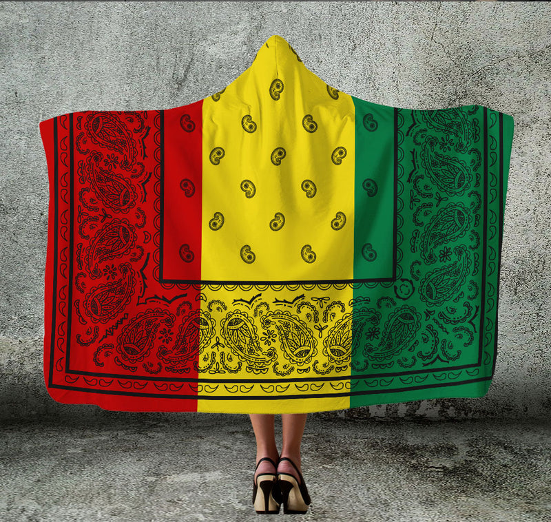 Rasta Bandana Hooded Blanket