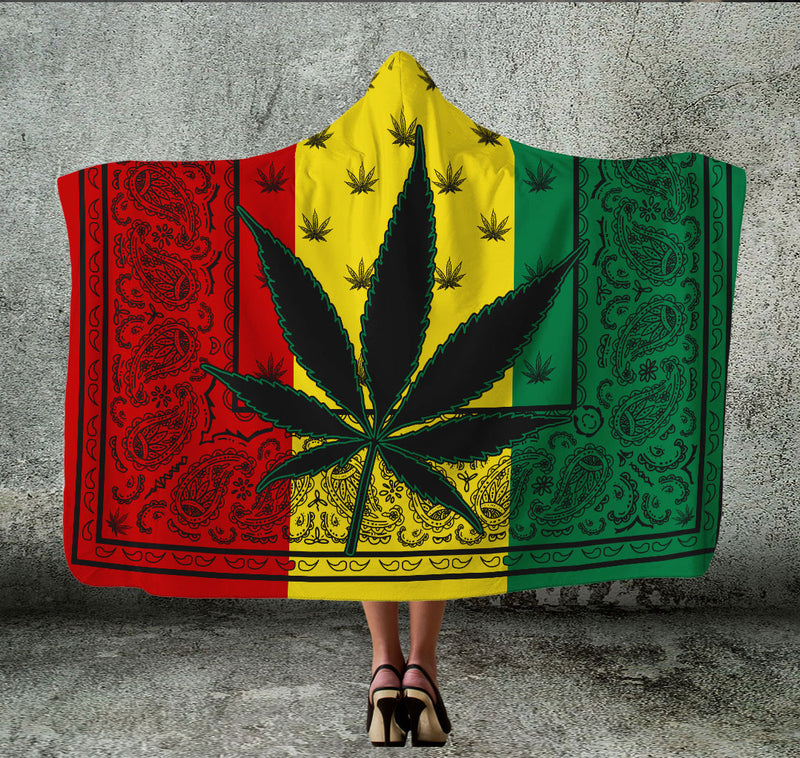 Rasta Mary Jane Hooded Blanket