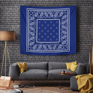 Royal Blue Bandana Tapestry