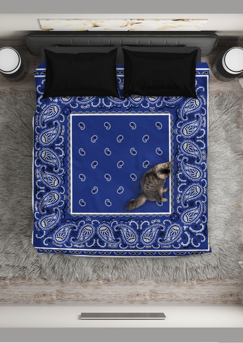 Royal Blue Bandana Duvet Cover