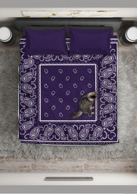 Purple Bandana Duvet Set