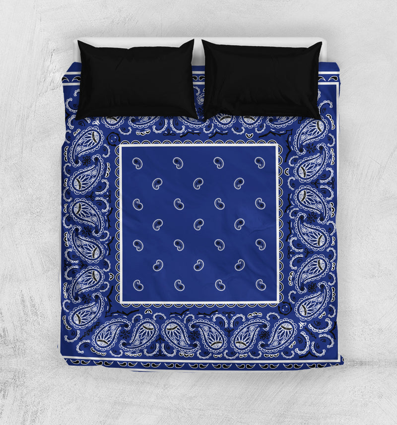 Blue Bandana Duvet Cover Set