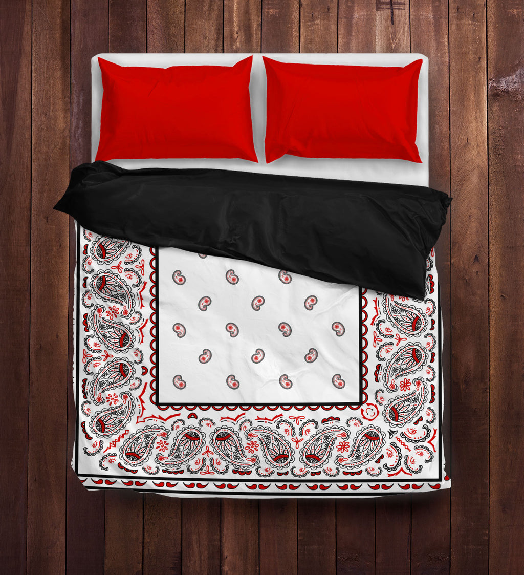 White Bandana Duvet Cover Set