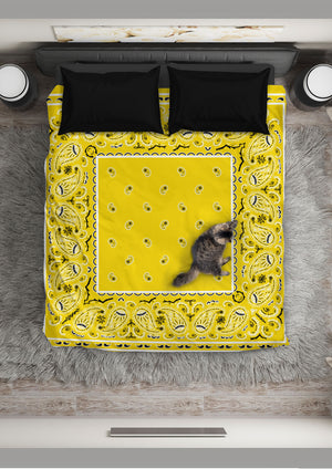 Yellow Bandana Duvet Cover Sets