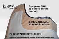 Sherpa hooded blanket size comparisons