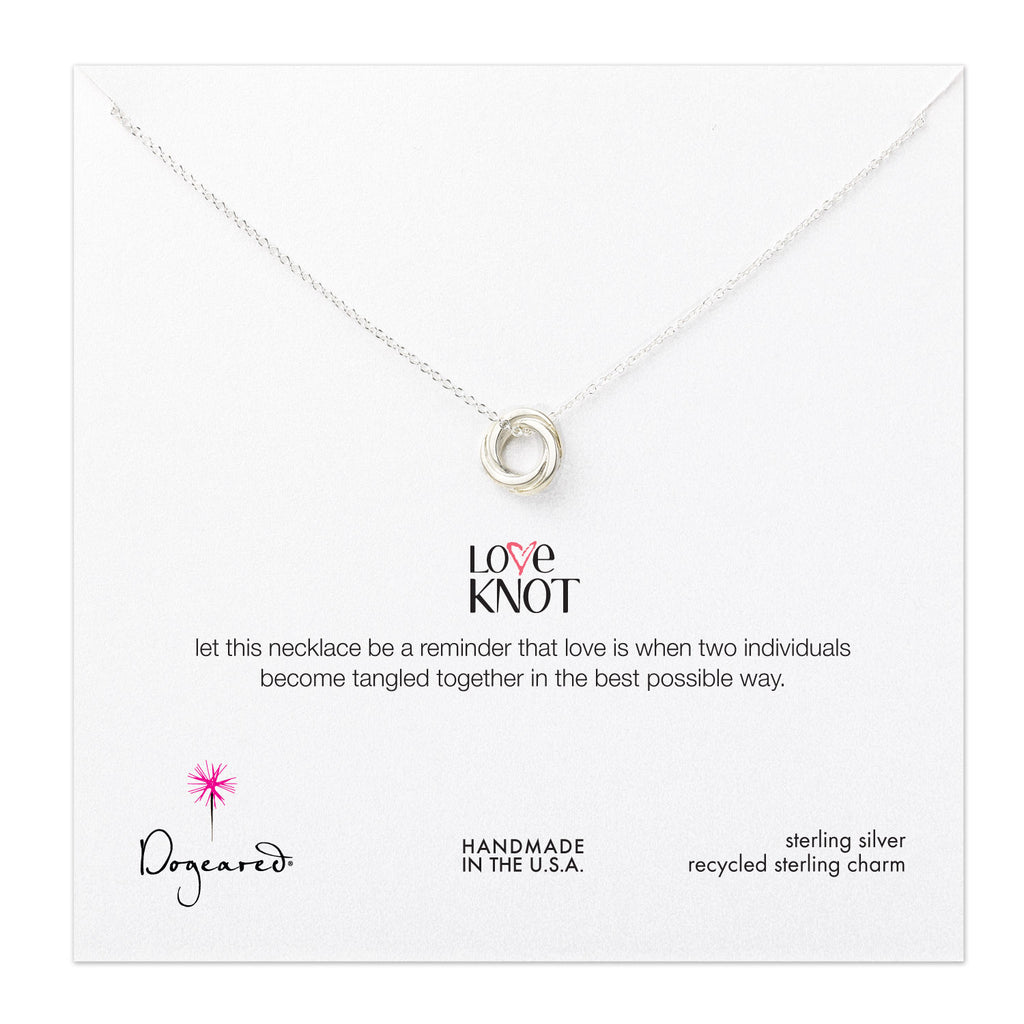 Dogeared Love Knot Necklace, Sterling Silver
