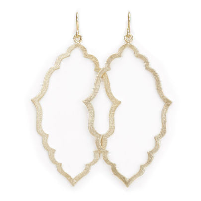 Dogeared, Always Beautiful Moroccan Earrings, Gold Dipped