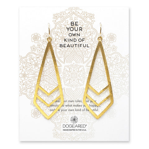 Dogeared be your own kind of beautiful chevron earrings - gold dipped brass hoops
