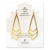 Dogeared be your own kind of beautiful chevron earrings, gold dipped