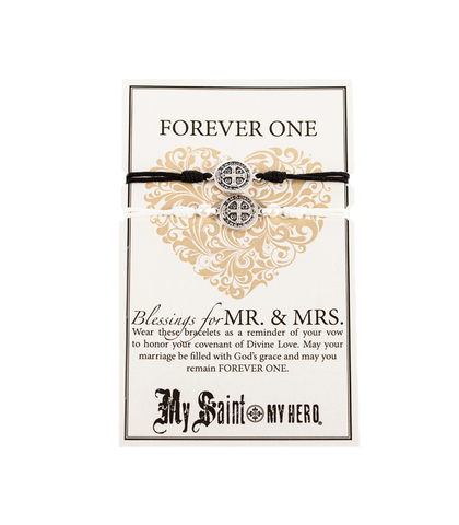 My Saint My Hero Forever One – Mr. & Mrs. Blessing Bracelets