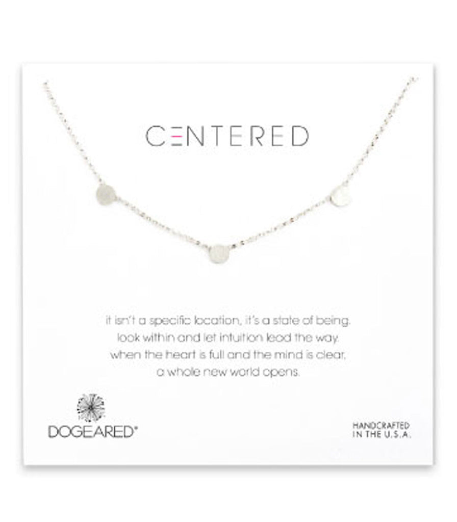 Dogeared Centered Triple Small Soldered Necklace -  Sterling Silver & Gold Dipped 18 inch